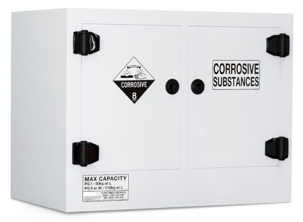 Poly Corrosive Storage Cabinet – 110 Litre Divided Sump