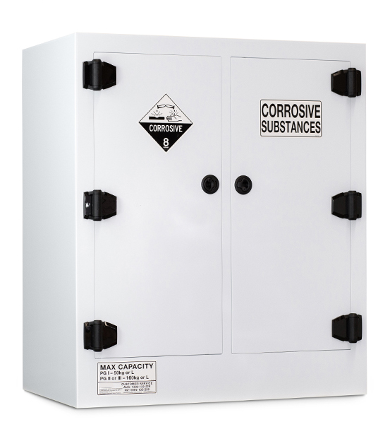 Poly Corrosive Storage Cabinet – 160 Litre Divided Sump