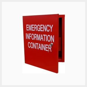 Large Emergency Information Cabinet
