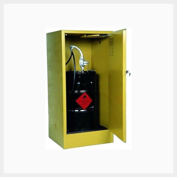 205 Litre Upright Drum Flammable Liquid Storage Cabinet