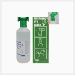 944ml Saline Eyewash Bottles with Wall-Mount & Sign