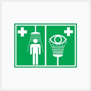 Safety Shower/Eyewash Sign Metal Double Sided