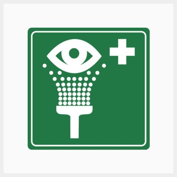 H-EWS Eyewash Sign Metal Single Sided