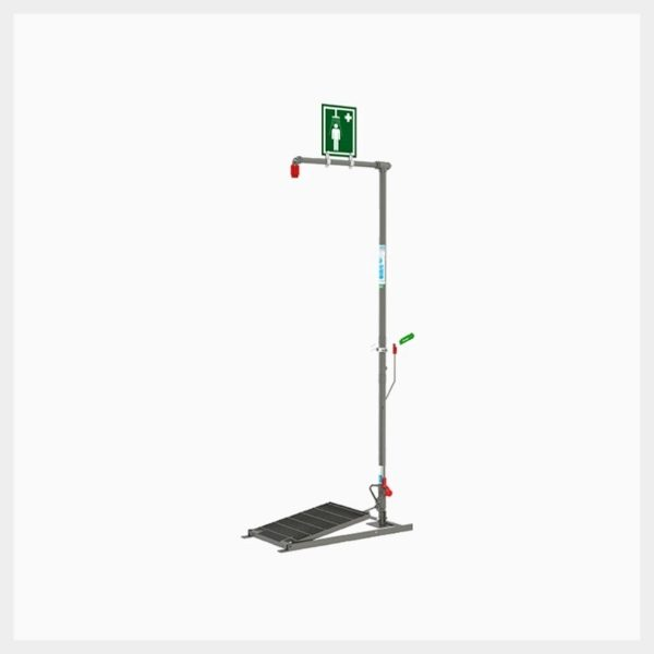 H-EXPSD18GS Floor Mounted Self-Draining Emergency Drench Shower