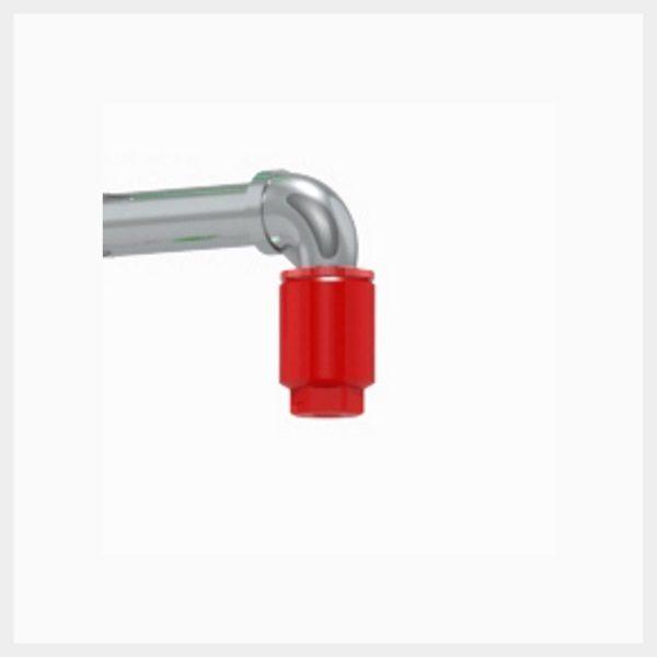 H-PNR Red Nylon Plastic Shower Nozzle