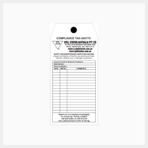 Emergency Eyewash & Safety Shower Inspection Record Tags
