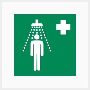 H-SSS Safety Shower Sign Metal Double Sided