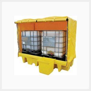 Dual IBC Spill Pallet Framed Cover - TSSBB2FC