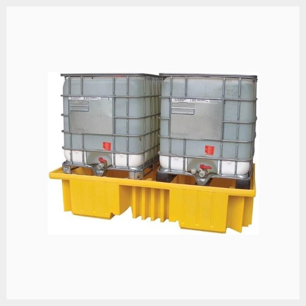 Dual IBC Spill Pallet – No Grate