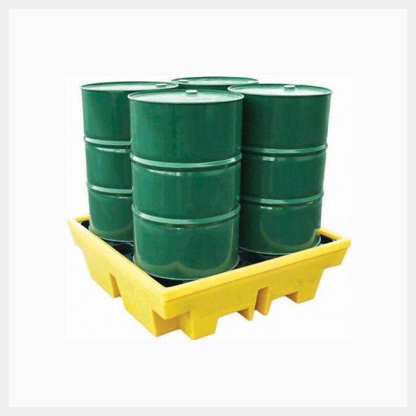Spill Pallet – 410 Litre Sump 4-Drum Square