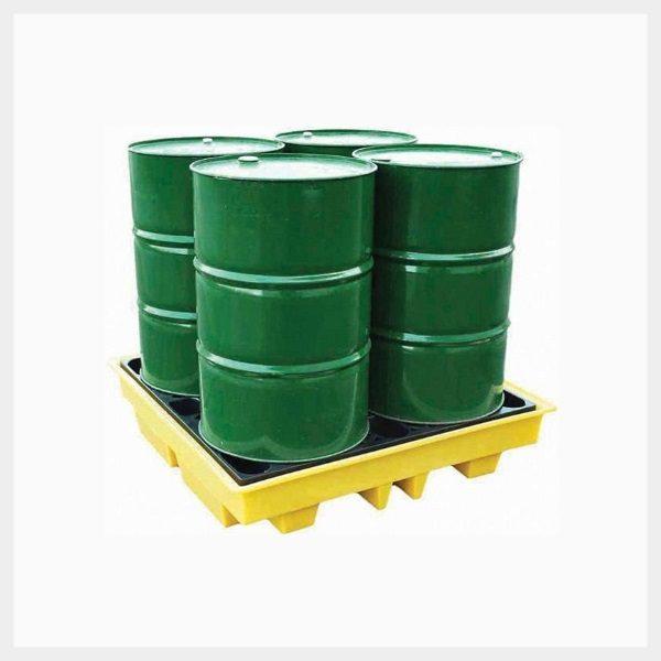 230 Litre 4-Drum Square Spill Pallet - TSSBP4L