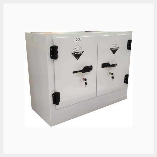 Poly Corrosive Storage Cabinet – 100 Litre Divided Sump