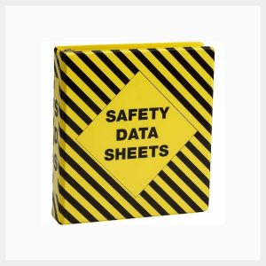 MSDS Binder Vinyl Striped