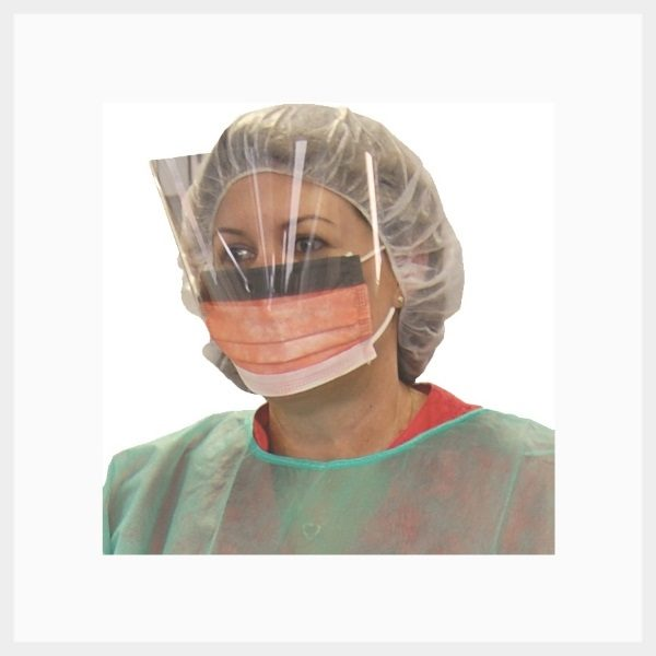 Face Mask with Eye Shield – Disposable